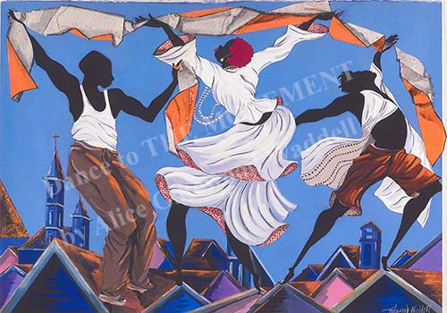 Dance to THE MOVEMENT, a painting by Alice Gatewood Waddell