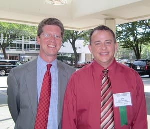 HUD Secretary Shaun Donovan with NFHA Board Chair Jim McCarthy