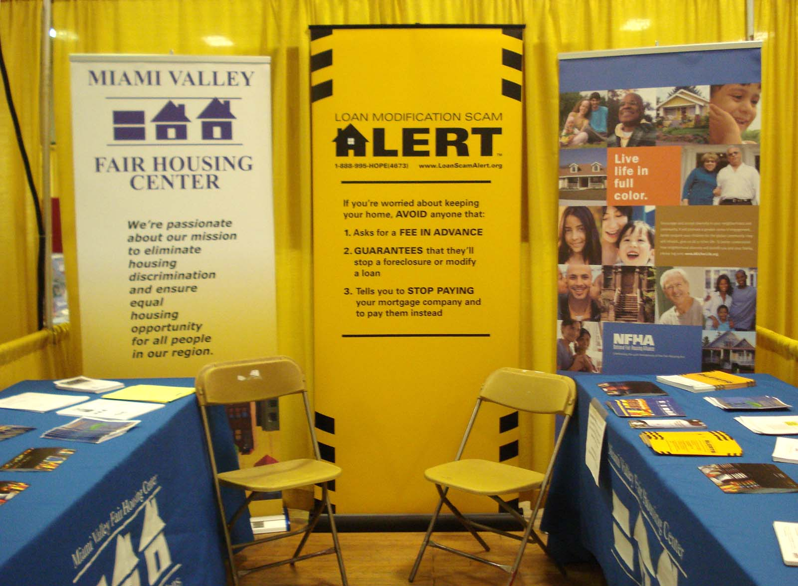 The MVFHC booth at the Montgomery County Fair is in the Coliseum