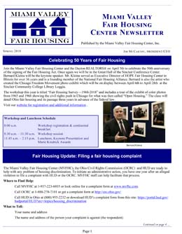 Old news - The Miami Valley Fair Housing Center
