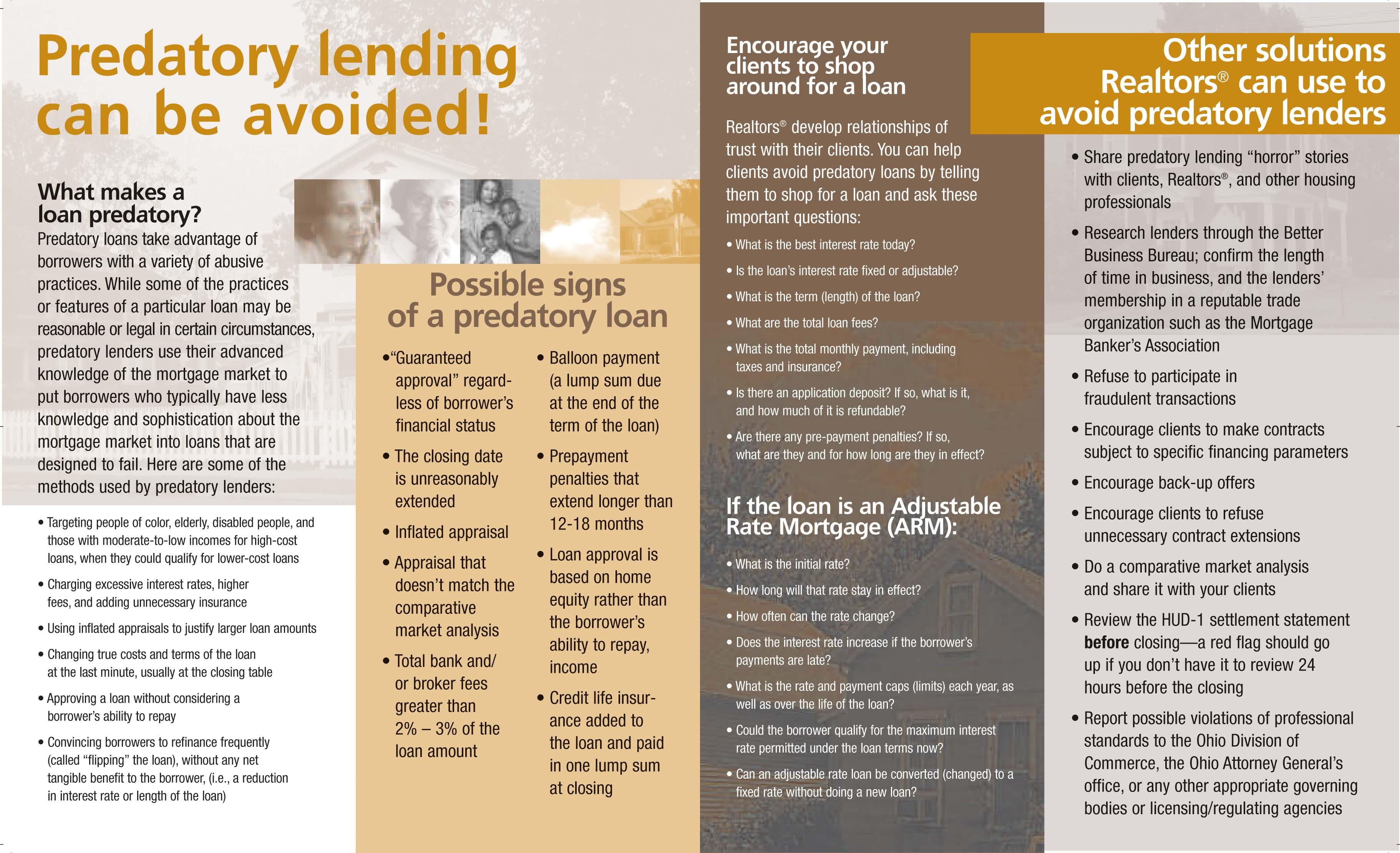 Predatory Lending Solutions Project - The Miami Valley ...